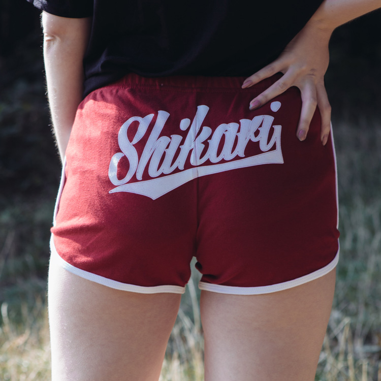 TEAM SHIKARI - RED BOOTY SHORTS