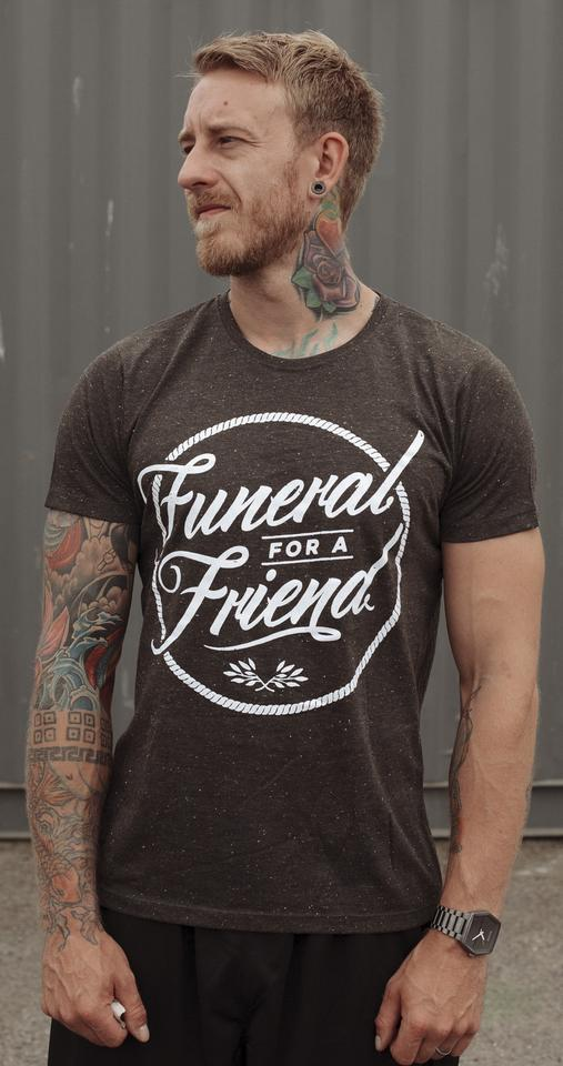 Funeral 'Logo' Speckle T-Shirt (Limited Edition)