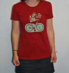 Ladies Bird on Bike T-Shirt (2013)