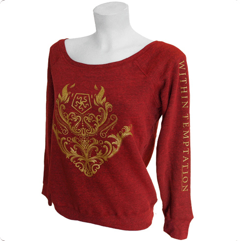 SALE PRICE! Gold Baroque - Dark Red Girls Off Shoulder