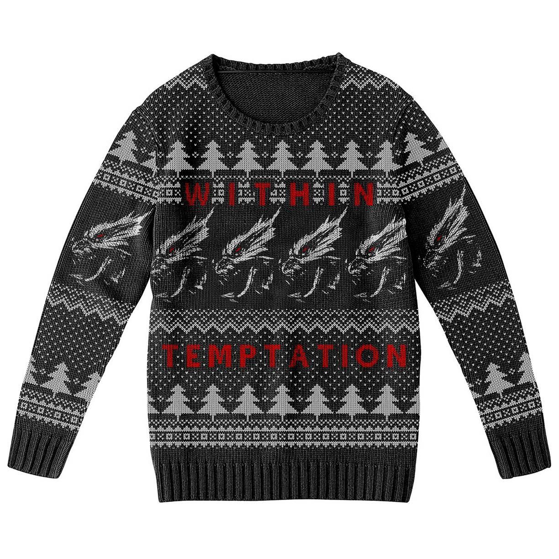 Xmas Dragons – Knitted Jumper