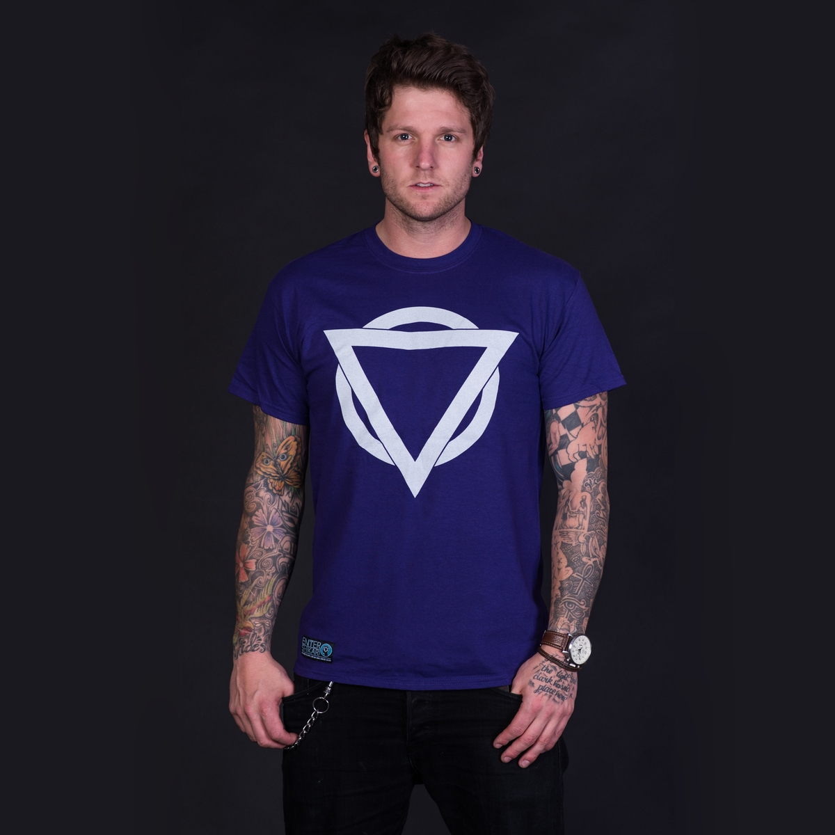 Colour Logo T Shirt (Purple / Light Grey)