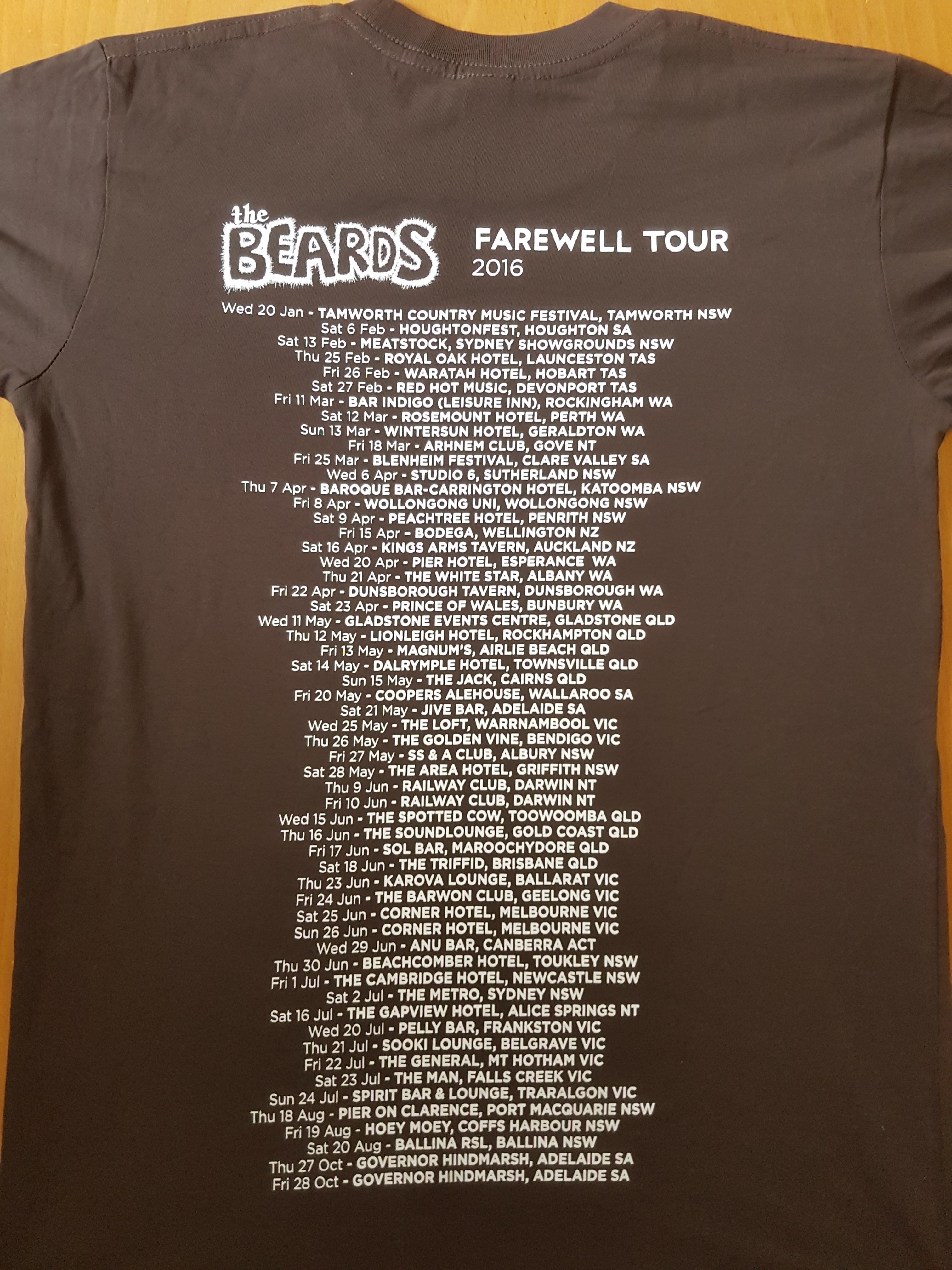 Australian Farewell Tour - Tee