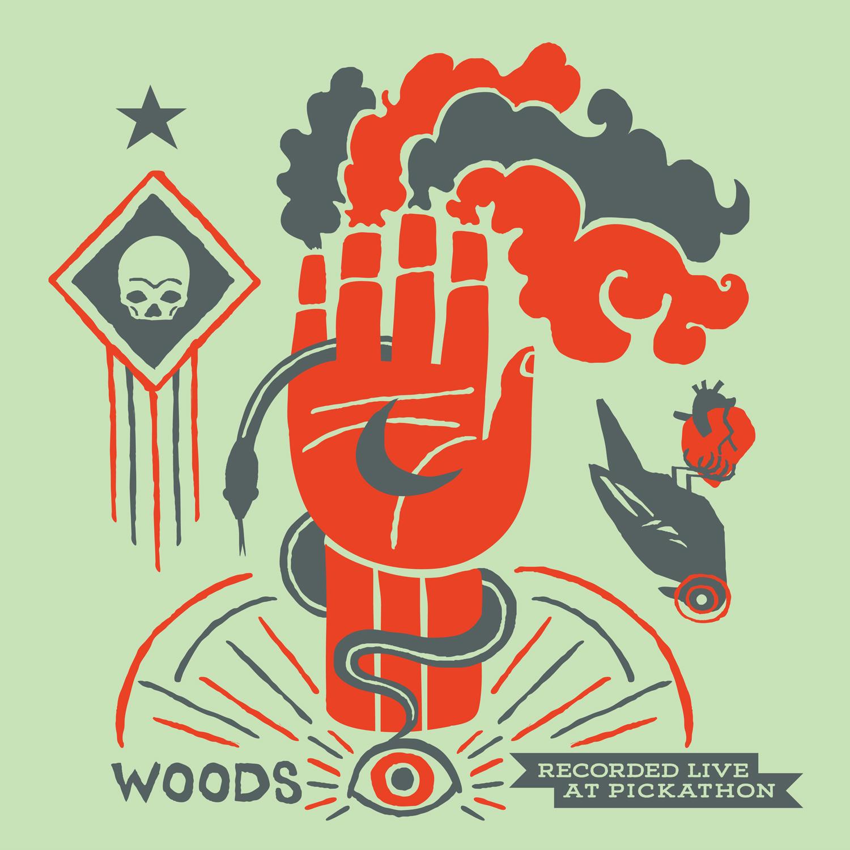 """Live at Pickathon: Woods / The Men 12"""" LP"""