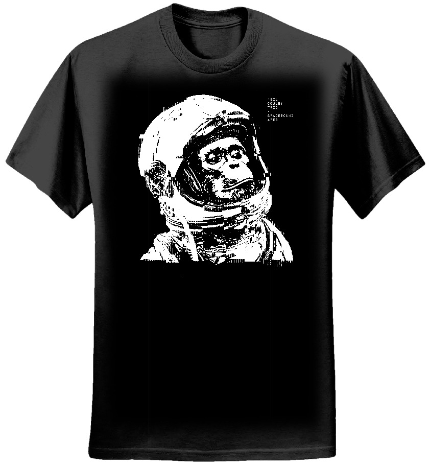 Spacebound Apes Black T shirt (Ladies)