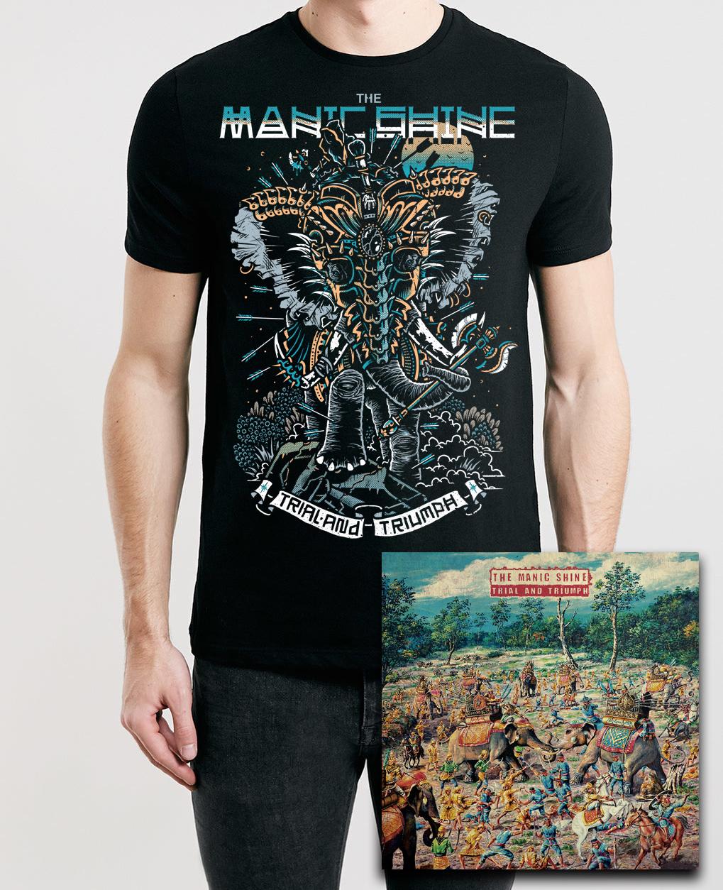 T-Shirt & Album Bundle (Black )