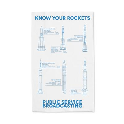 PSB 'Know Your Rockets' Tea Towel