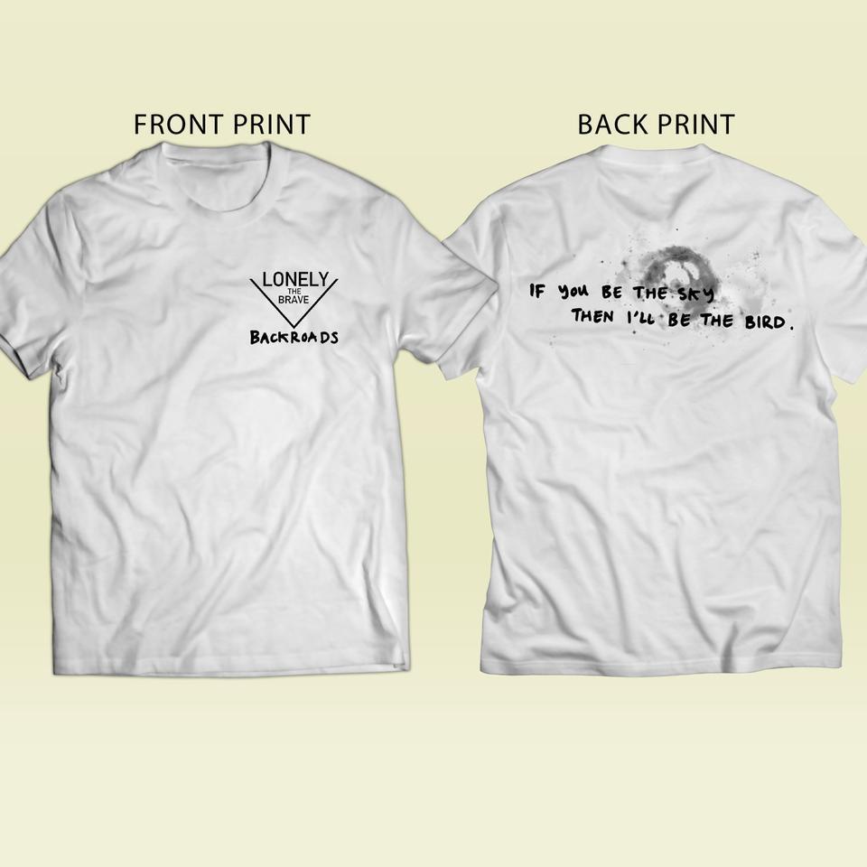 Backroads Lyric T-Shirt (WHITE)