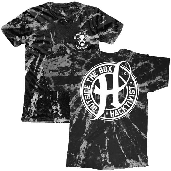 Stamp Tie Dye T-Shirt (Black)